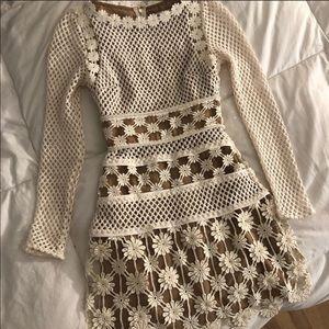 Self-Portrait Dresses - NWT Self Portrait Floral Crochet Mini Dress